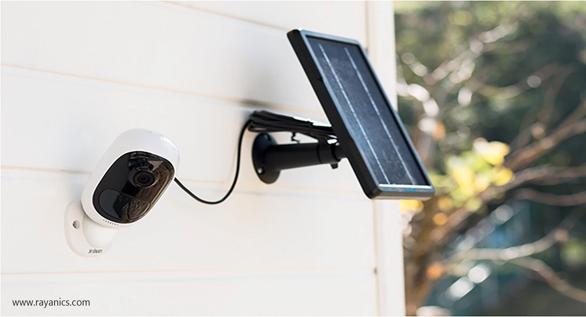 پنل خورشیدی دوربین مداربسته